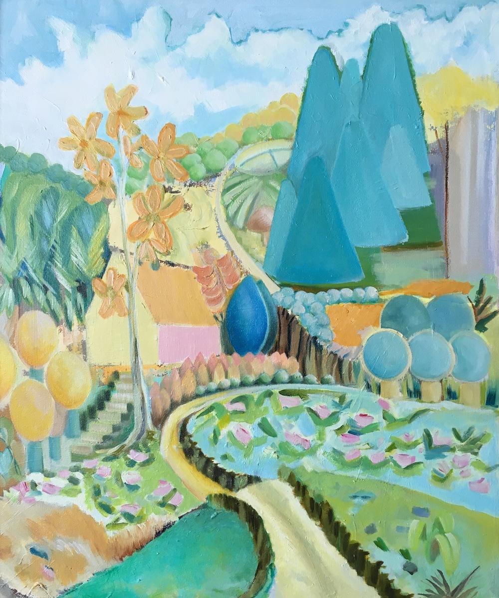 "Summit Ridge Road  20"" x 24""  Oil on Canvas"