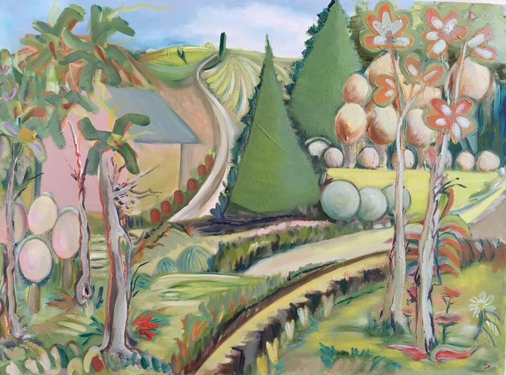 "Wonderland Trail  24"" x 18""  Oil on Canvas"