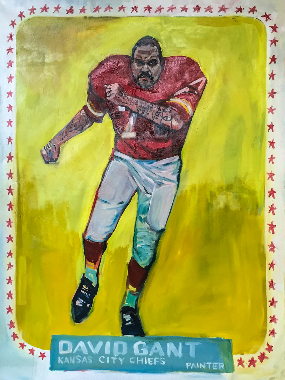 "Chiefs Self-Portrait  72"" x 48""  Acrylic on Canvas"