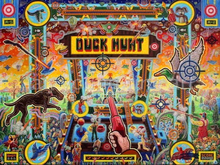 "Duck Hunt  30"" x 40""  Acrylic on Canvas"