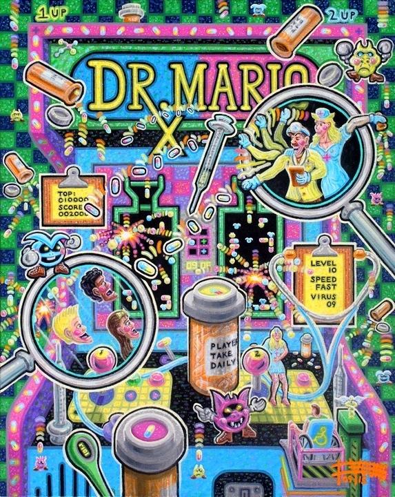 """Dr. Mario  30"""" x 24""""  Acrylic on Canvas"""