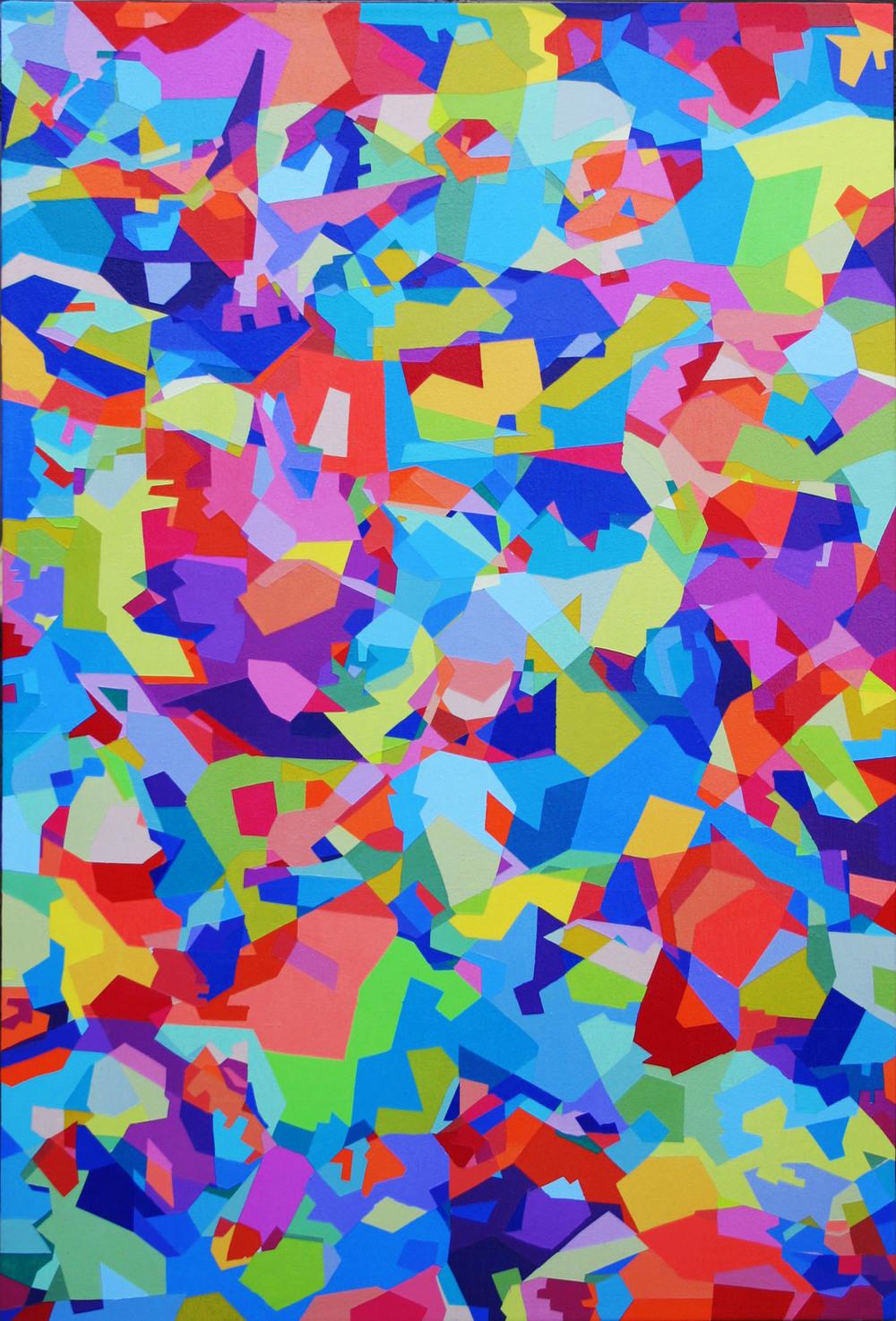 "Spring Break  36"" x 24""  Acrylic on Canvas"