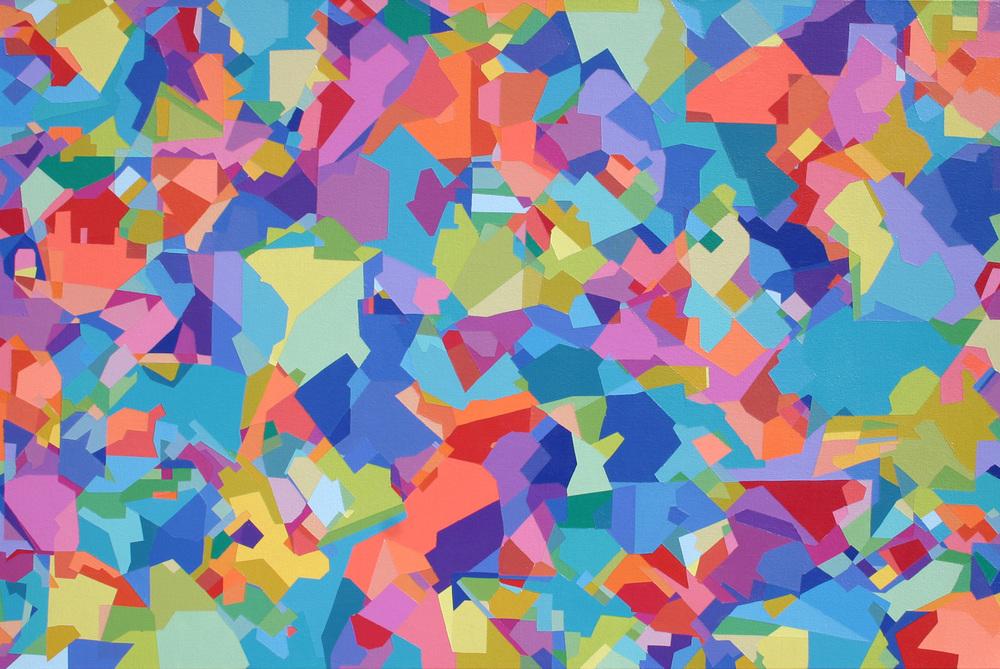 "Gershwin Tune  24"" x 36""  Acrylic on Canvas"