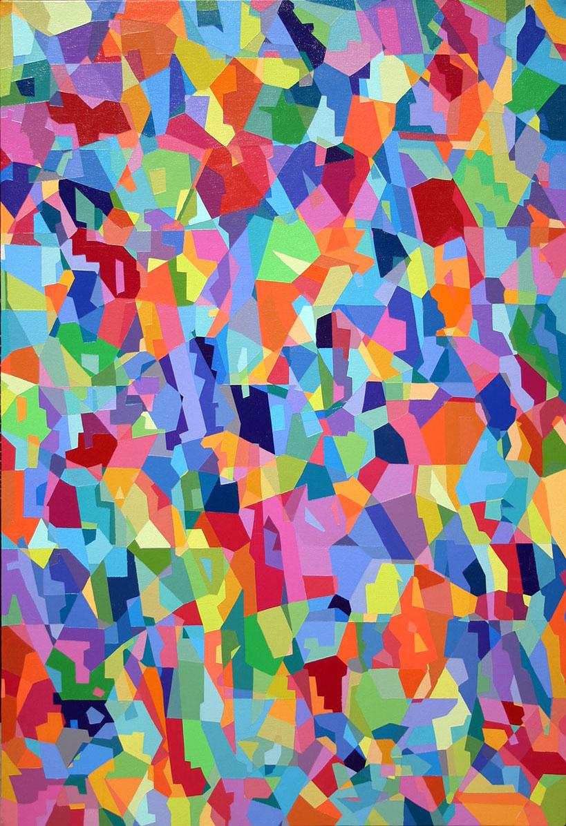 """Carrousel  36"""" x 24""""  Acrylic on Canvas"""