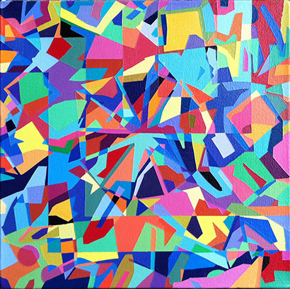 """Math  12"""" x 12""""  Acrylic on Canvas"""