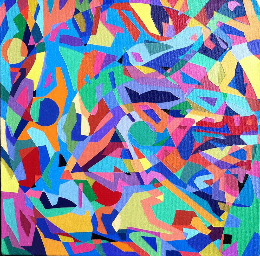 """Verbal  12"""" x 12""""  Acrylic on Canvas"""