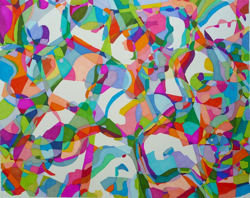 """Day Dream  18"""" x 20""""  Prismacolor Marker on BFK Paper"""