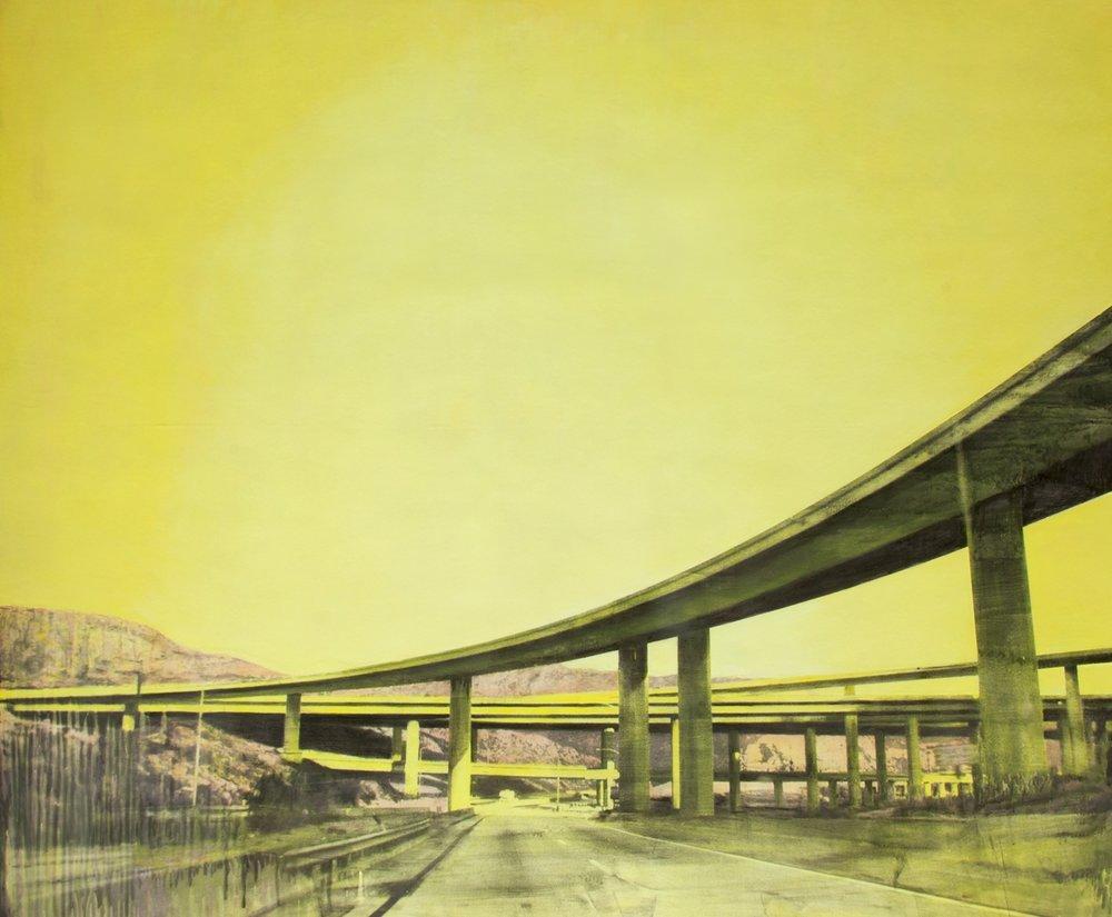 """Bridges  76"""" x 90""""  Mixed Media, Oil on Canvas"""