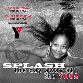 2008 YMCA of WNC Newspaper Sticker, appeared in June 2008