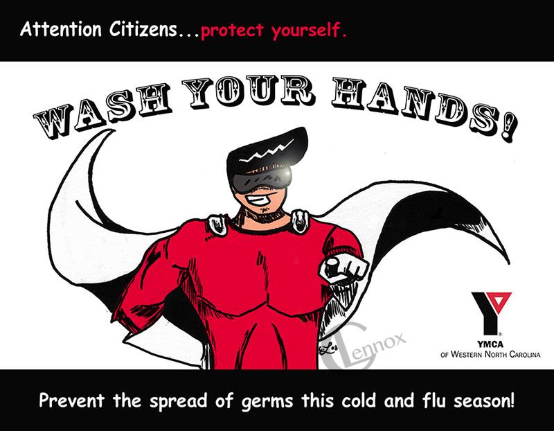 2008 YMCA of WNC Flu Season Facility Sign