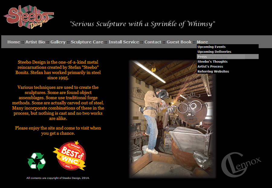 2007-2014 Steebo Business/Portfolio Website