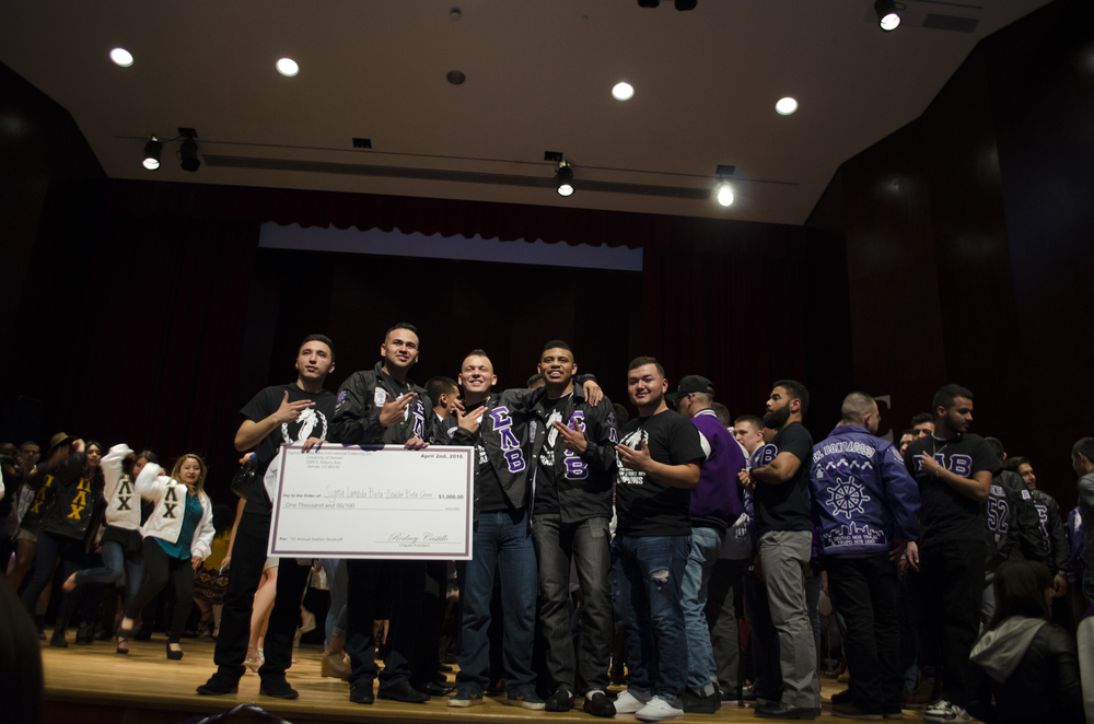 Brothers from the Lambda Chapter win first place at the 7th Annual Stallion Stroll Off.