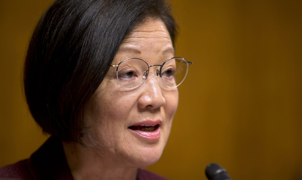 Sen. Mazie Hirono (D-HI) holds a hearing in the Senate Judiciary Committee about immigrant women and immigration reform