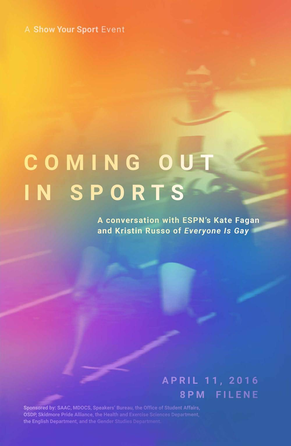 Coming Out In Sports: Speaker Event — Show Your Sport