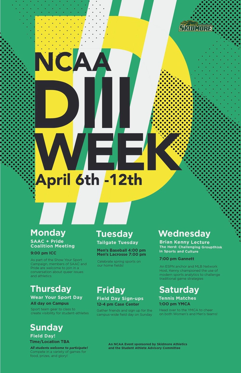 DIII Week Poster, by Aria Goodman '15