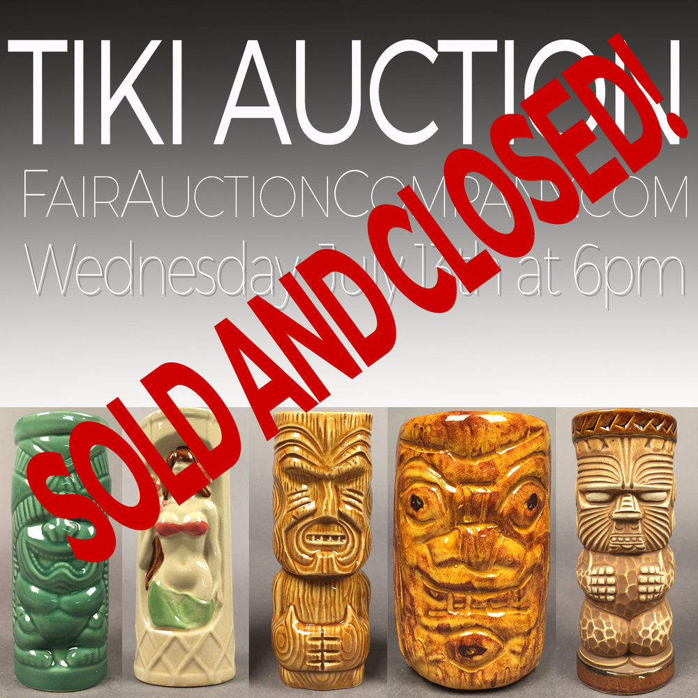 Last Auction: MCM and TIKI auction Ended July 13th, 2016