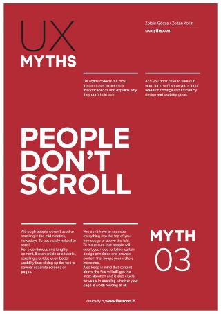 UX Myth #3 Poster byZoltán Gócza
