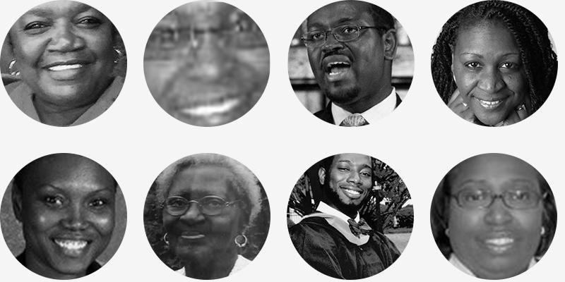 Charleston Shooting Victims: Cynthia Marie Graham Hurd (54), Susie Jackson (87),Ethel Lee Lance (70),Depayne Middleton-Doctor (49), Clementa C. Pinckney (41),Tywanza Sanders (26),Daniel Simmons (74),Sharonda Coleman-Singleton (45), Myra Thompson (59)