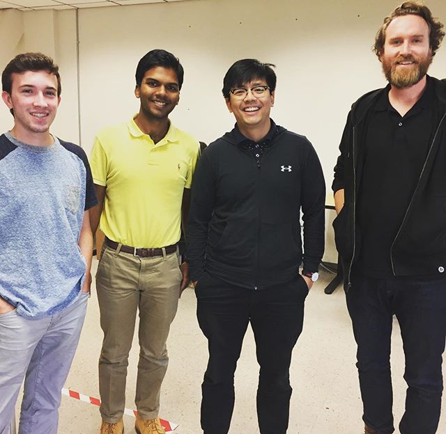 Kyle, Sourav, and Arkar joined us this summer and have already added tons of brainpower to Imprint! #hangingwithimprint