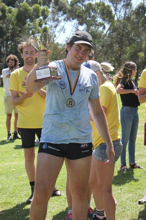 The 2015 Dhani Riehl Medallist for most outstanding enthusiasm; David Blumbergs.