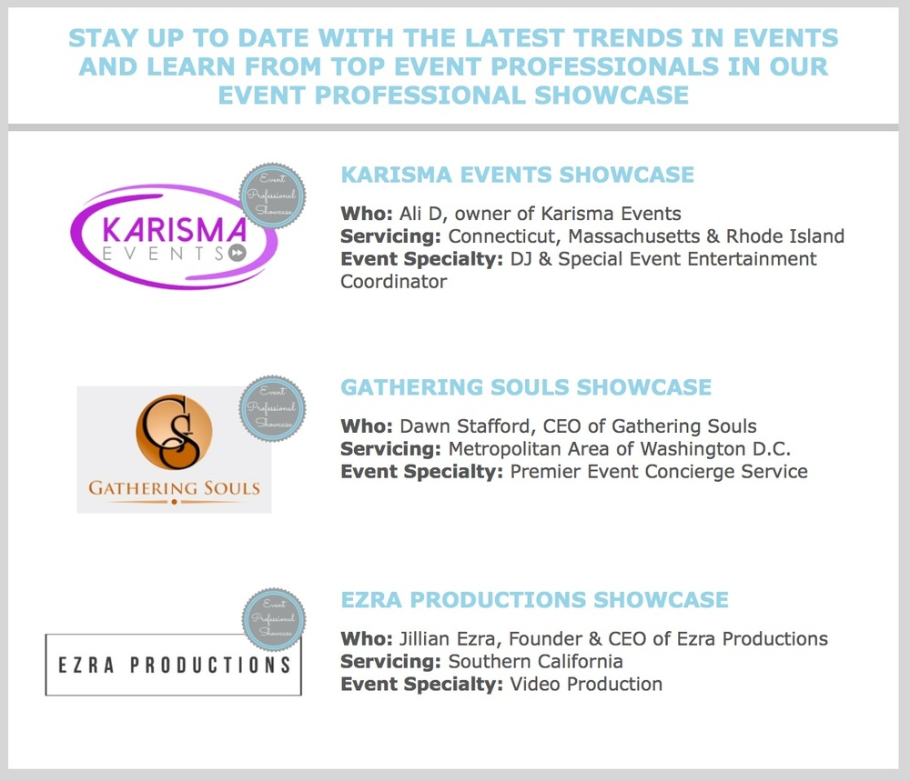 Click here to view all Event Professional Showcases