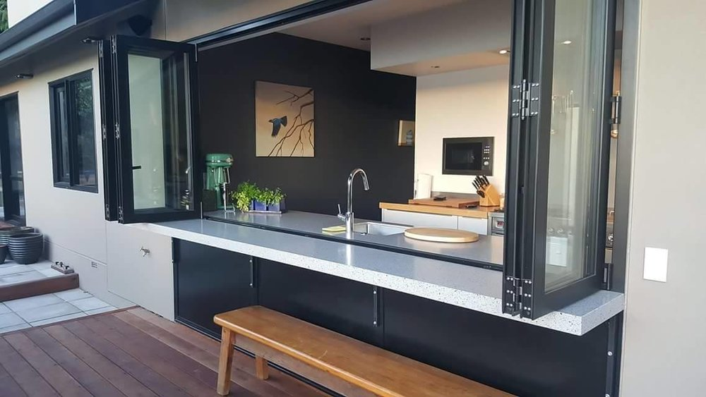Indoor / Outdoor Flow - Expand your living and dining area with a customised counter top.