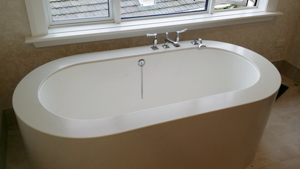 Bath 1 - Give your bathroom a more luxurious look with an under mounted bathtub.