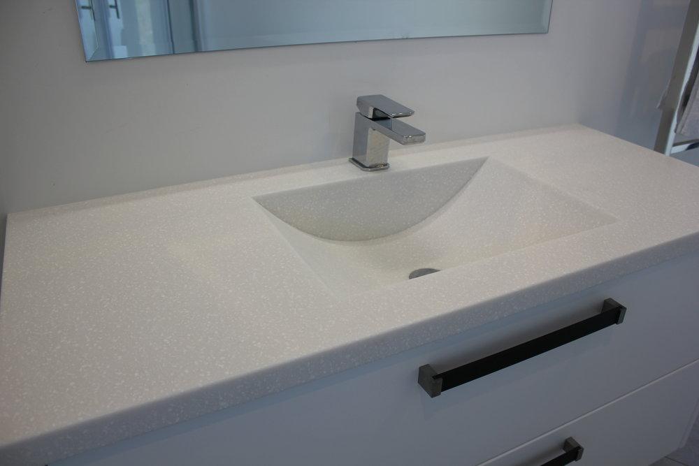 Custom built sink using TriStone Frost Land