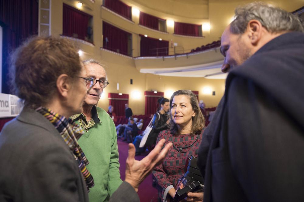 Laura Trisorio e Geneviève Morgane con i registi Jean-Paul Fargier e François Levy-Kuentz