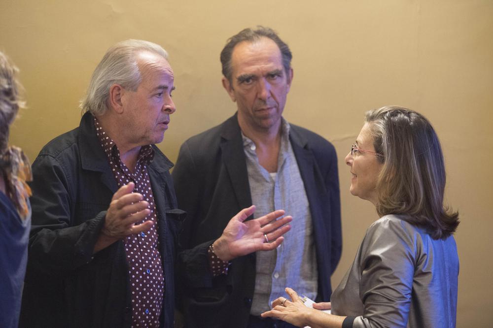 Il regista Iwan Schumacher con Felix Lehner e Laura Trisorio