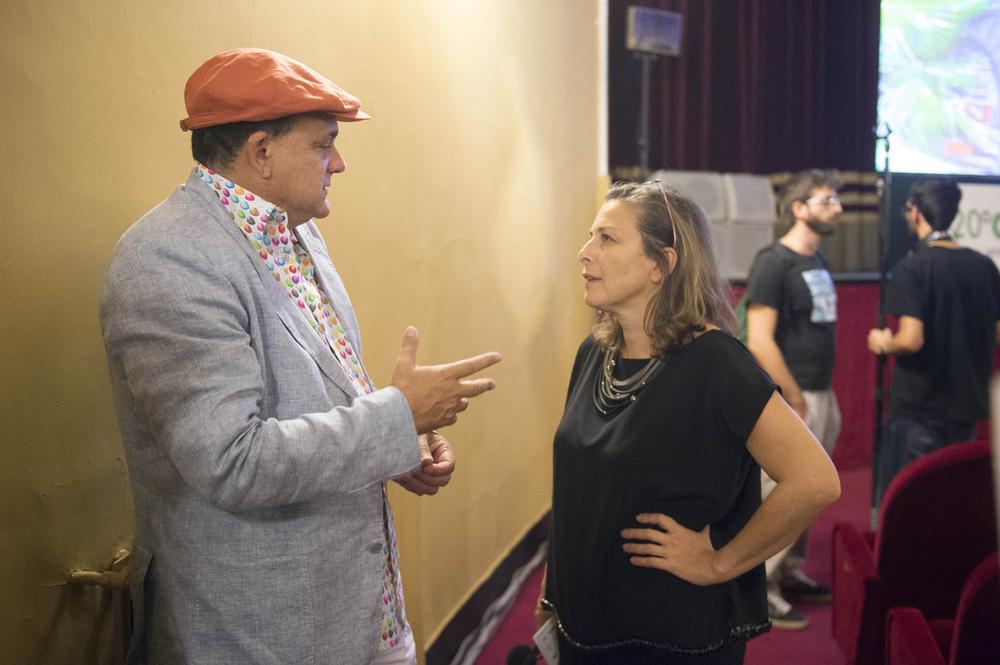Il regista Gerry Fox e Laura Trisorio