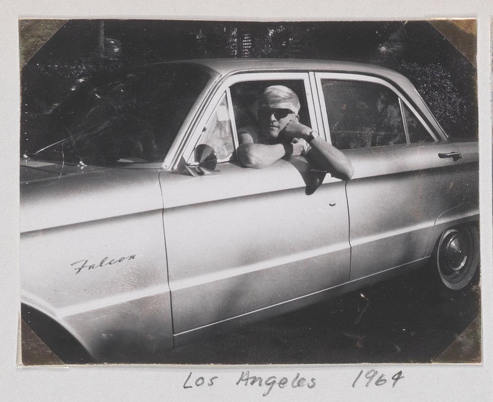 8. David's first car, Ford Falcom, Los Angeles, 1964.jpg