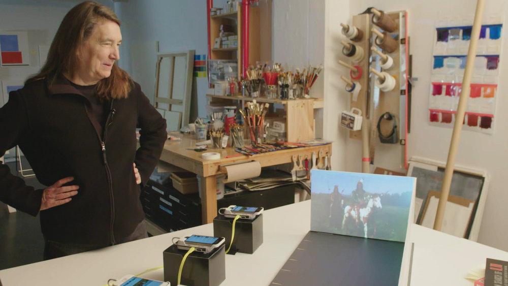 7 Jenny Holzer wählt Werke von Rosa Bonheur, Foto Elia Lyssy © phlox-films.jpg
