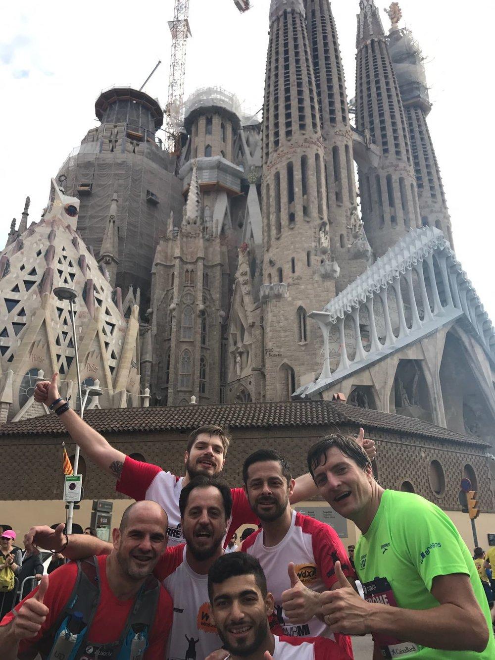 Adnan Syrian refugee INARA Arwa Damon Barcelona Marathon