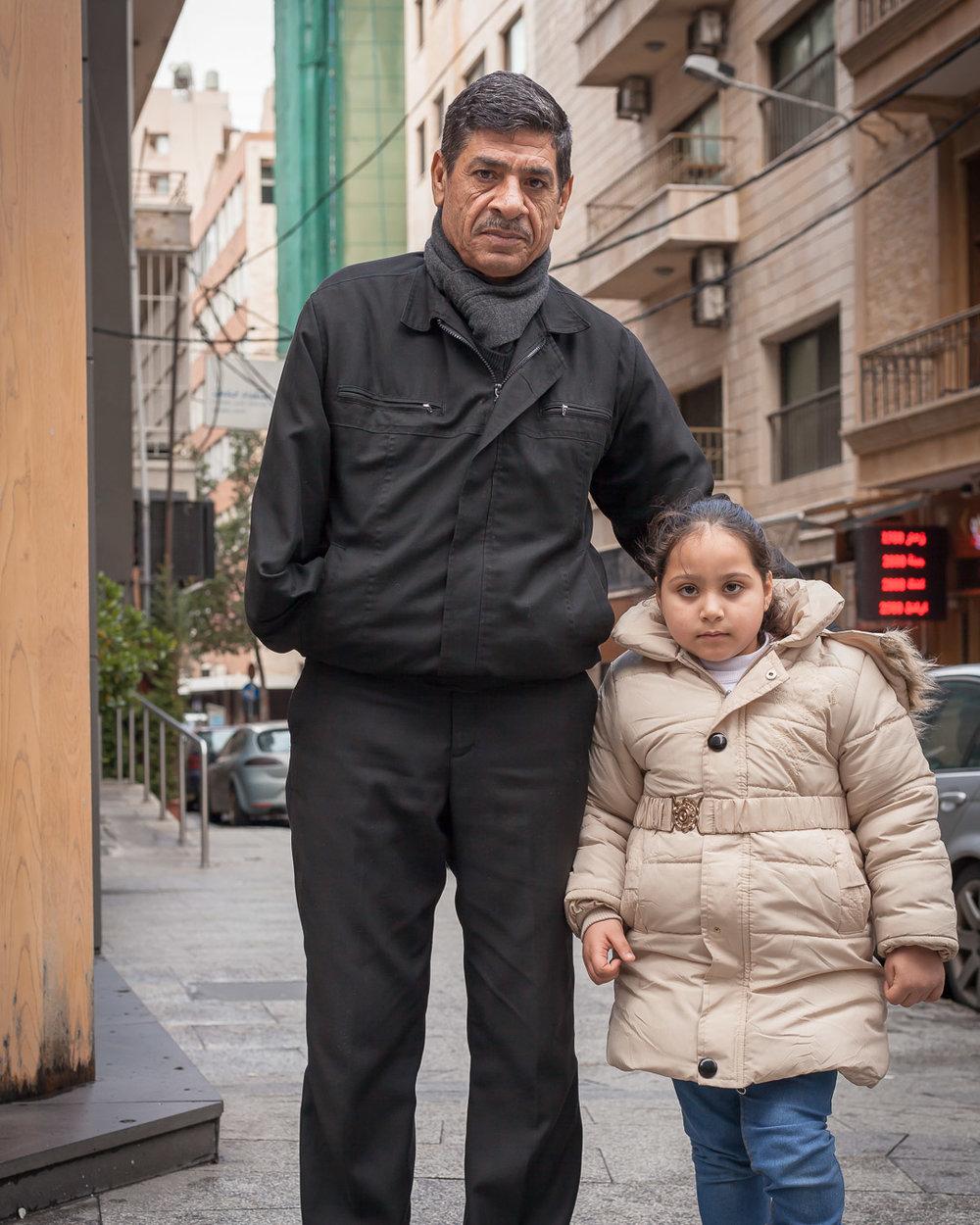 Taj with her grandfather.