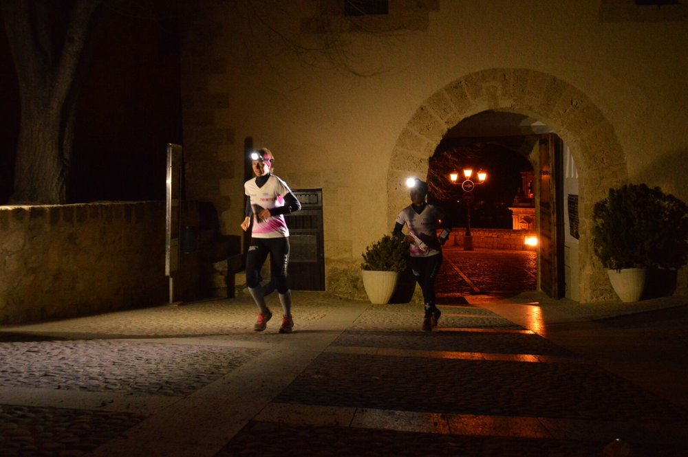 in azione con sabine Hauswirth nel night-Sprint