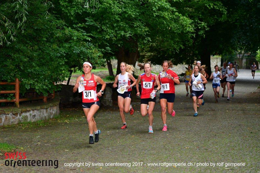fase iniziale della sprint relay