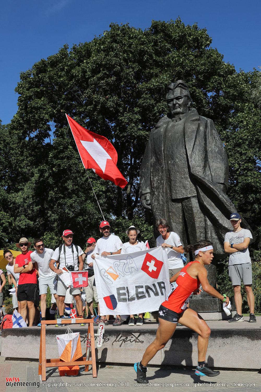 In azione con il sostegno del mio Fan Club!! Foto by Rémy Steinegger