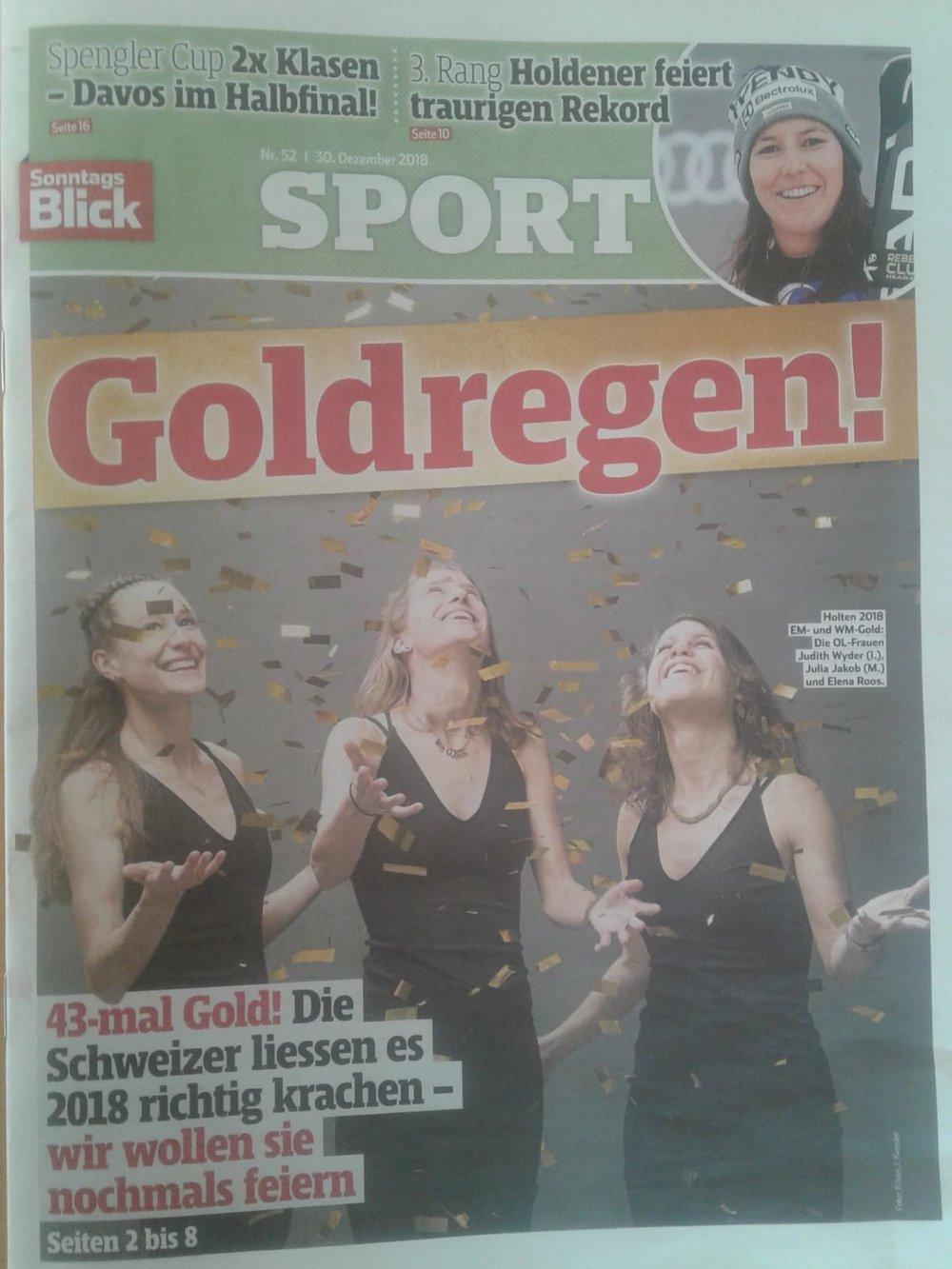 Copertina del Sonntags Blick di oggi¨:-)