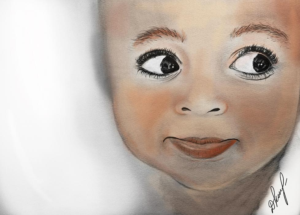 ''Chocolate Kid'' - pencil, watercolours 2012