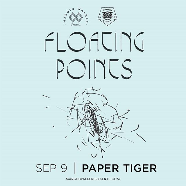 Just announced @floatingpoints LIVE here on 9/9! On sale tomorrow.