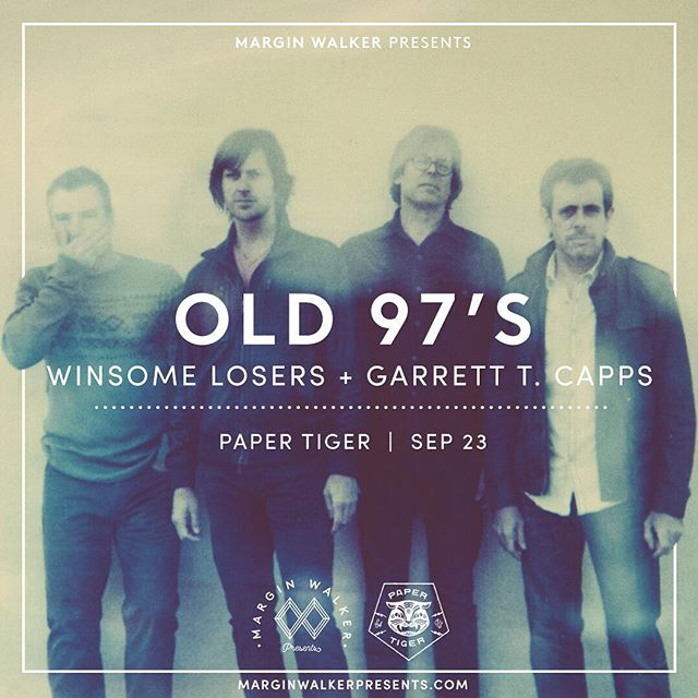 We've got The Winsome Losers and @garrett_t_capps on the bill with @old97s here on 9/23, presented by @marginwalkertx! Tickets on sale now at marginwalkerpresents.com