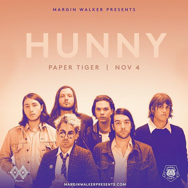 Just added! @hunnytheband will be here on 11/4, brought to you by @marginwalkertx! Tickets are on sale now at marginwalkerpresents.com