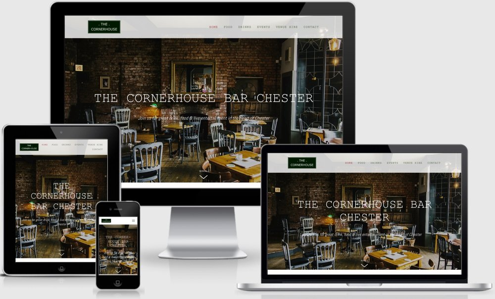 NOVEMBER: JUST LAUNCHED! Featured website - The Cornerhouse Bar Chester