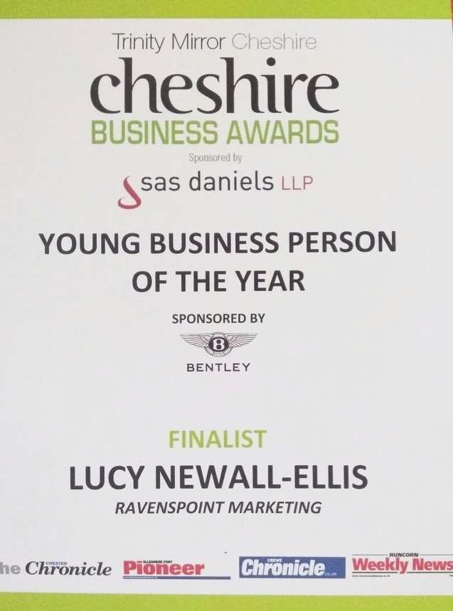 - Young Business Person of The Year (Finalist!)I was lucky enough to be a finalist in the Cheshire Business Awards for Young Business Person of the Year. Although I didn't win this year, it was such an amazing event to be part of and I felt very proud to be a finalist. I would really recommend anyone that works for themselves to enter a business award - it really helps you reflect on your journey and where you are on your business journey. I'll definitely be entering again next year.