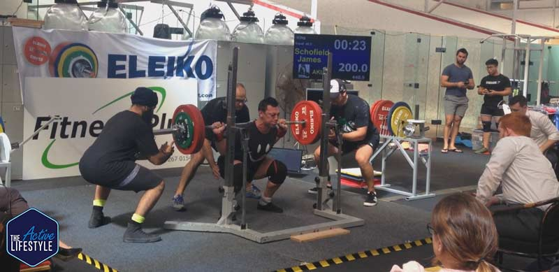 My 200kg squat at under 93kg class in March 2018