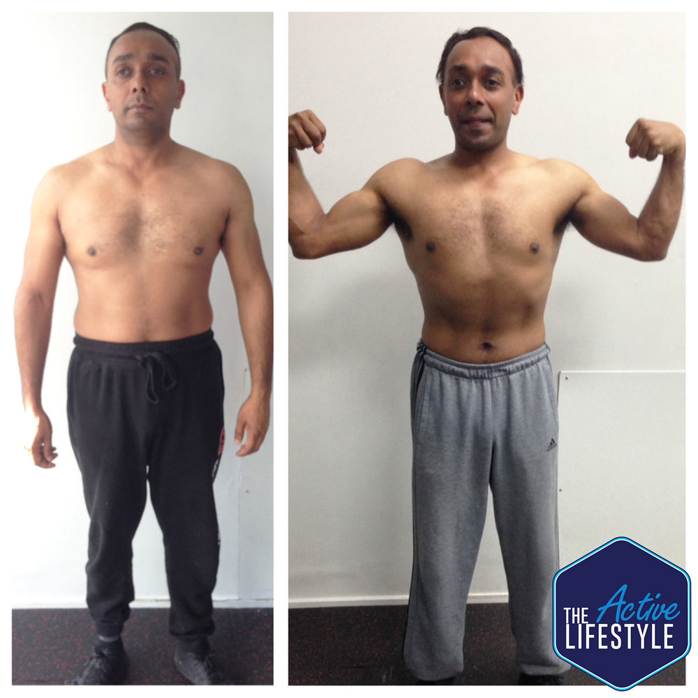 Sam came to us wanting to lose weight, get stronger, and most importantly, have the fitness to keep up with his young son. Since getting started with us late last year, has been a loyal client ever since, in fact we should get new 'after' pictures of him so you can really see how awesome he looks now! He gives it his all in training and the proof is in his results.