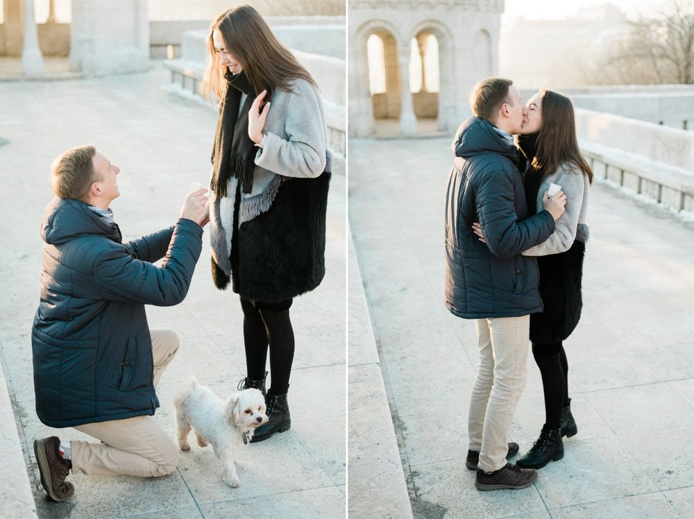 surprise proposal in budapest castle europe photographer wedding.jpg