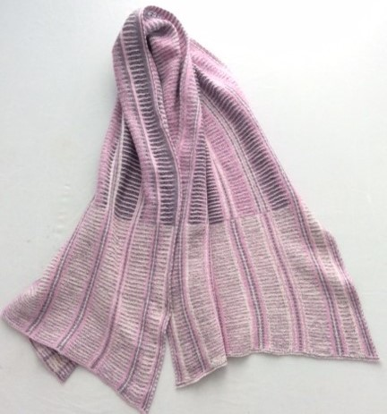 pink and grey scarf ravillious inspired collection