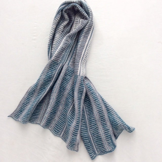 teal and grey scarf ravillious inspired collection